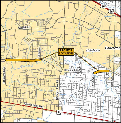 Baseline Road Project Vicinity Map