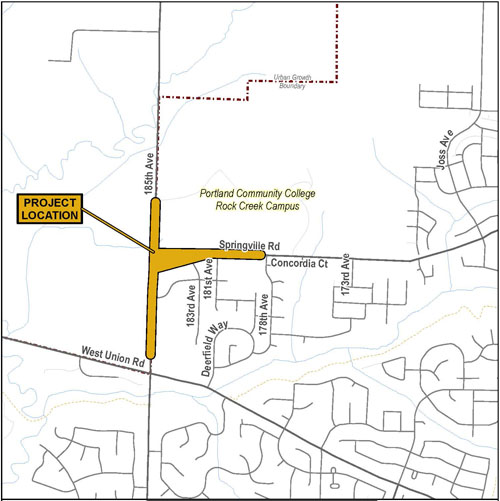 Springville Project Vicinity Map 2015
