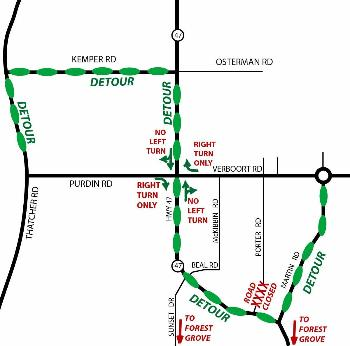 100207 Verboort Purdin Porter Bridge Detour map