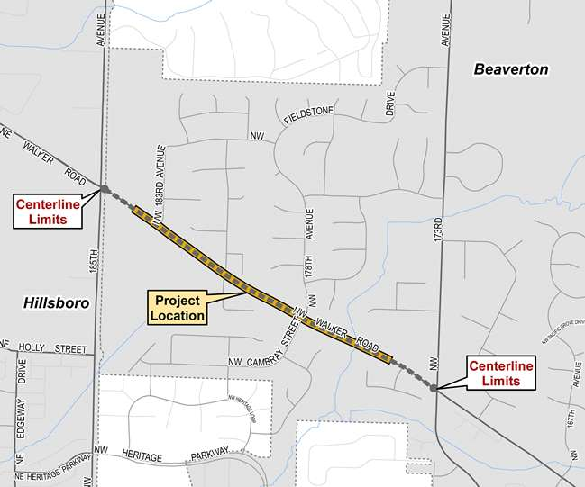 Walker Road Phase 3 map