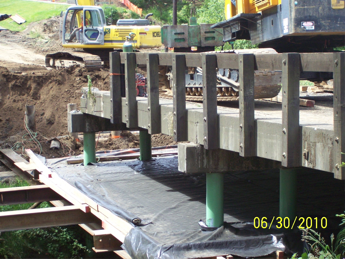 Building of new bridge at Beaverton Creek Bridge on Cornelius Pass Road