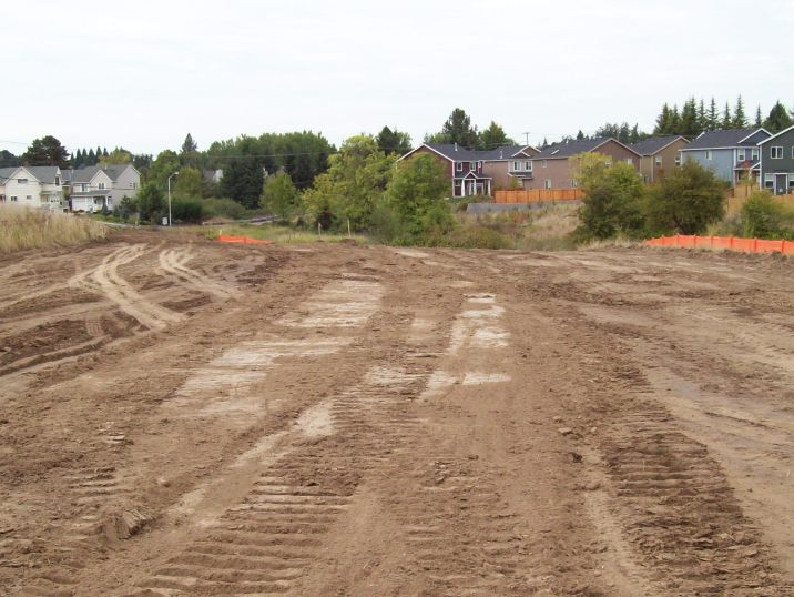 During construction looking NW toward 173rd-Walker