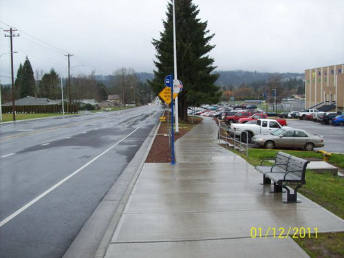 185th at Aloha High School looking south