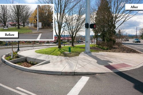 Main St and Hwy 99W @ Liberty Park Before and After