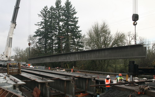 Glencoe Road Bridge Beam Delivery