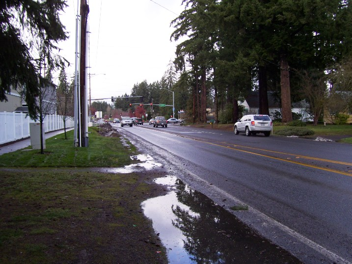 Brookwood Ave Looking North at Baseline