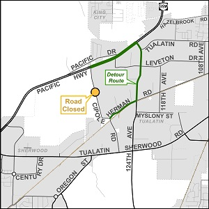 Cipole Culvert Replacement Detour Route