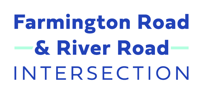 Farming and River roads intersection project logo