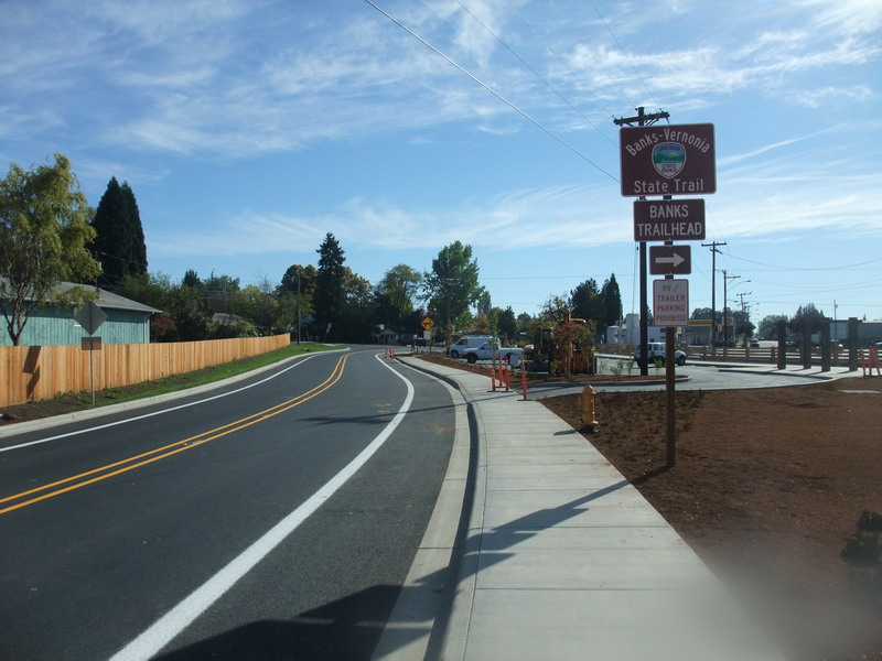 New parking lot and BV Trail entrance