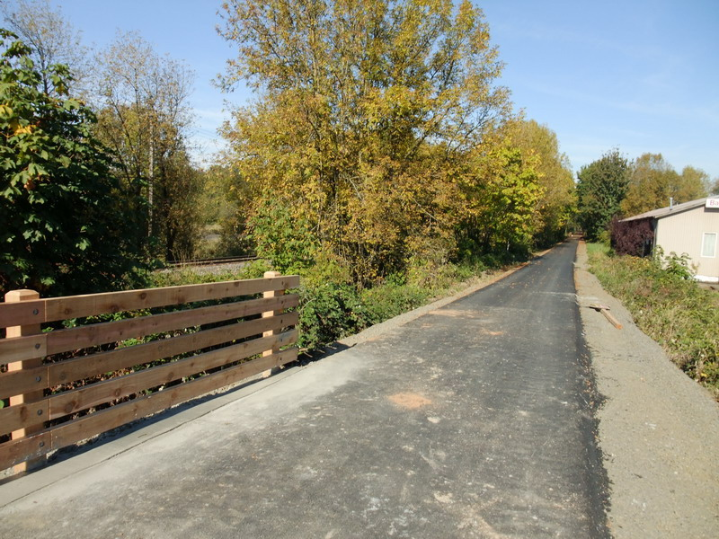 New south end of new trail