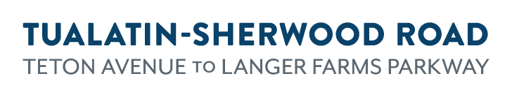 Tualatin-Sherwood Road, Teton Avenue to Langer Farms, logo