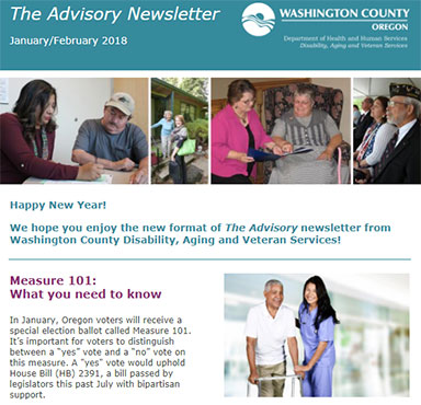 The Advisory newsletter is delivered six times a year via email.