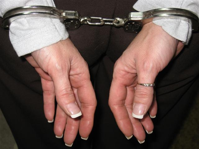 Handcuffed female