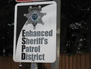 Enhanced Sheriff's Office Patrol District sign