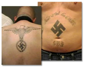 White Supremacist tattoo