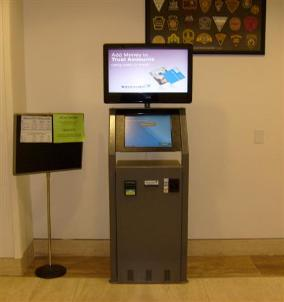 Telmate Kiosk in Jail Lobby