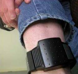 Electronic Home Detention ankle bracelet