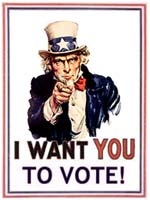 I want you to vote