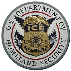 Immigration and Customs Enforcement badge