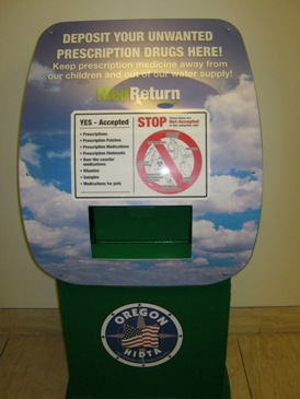 Drug Drop Box located at the Sheriff's Office in Hillsboro.