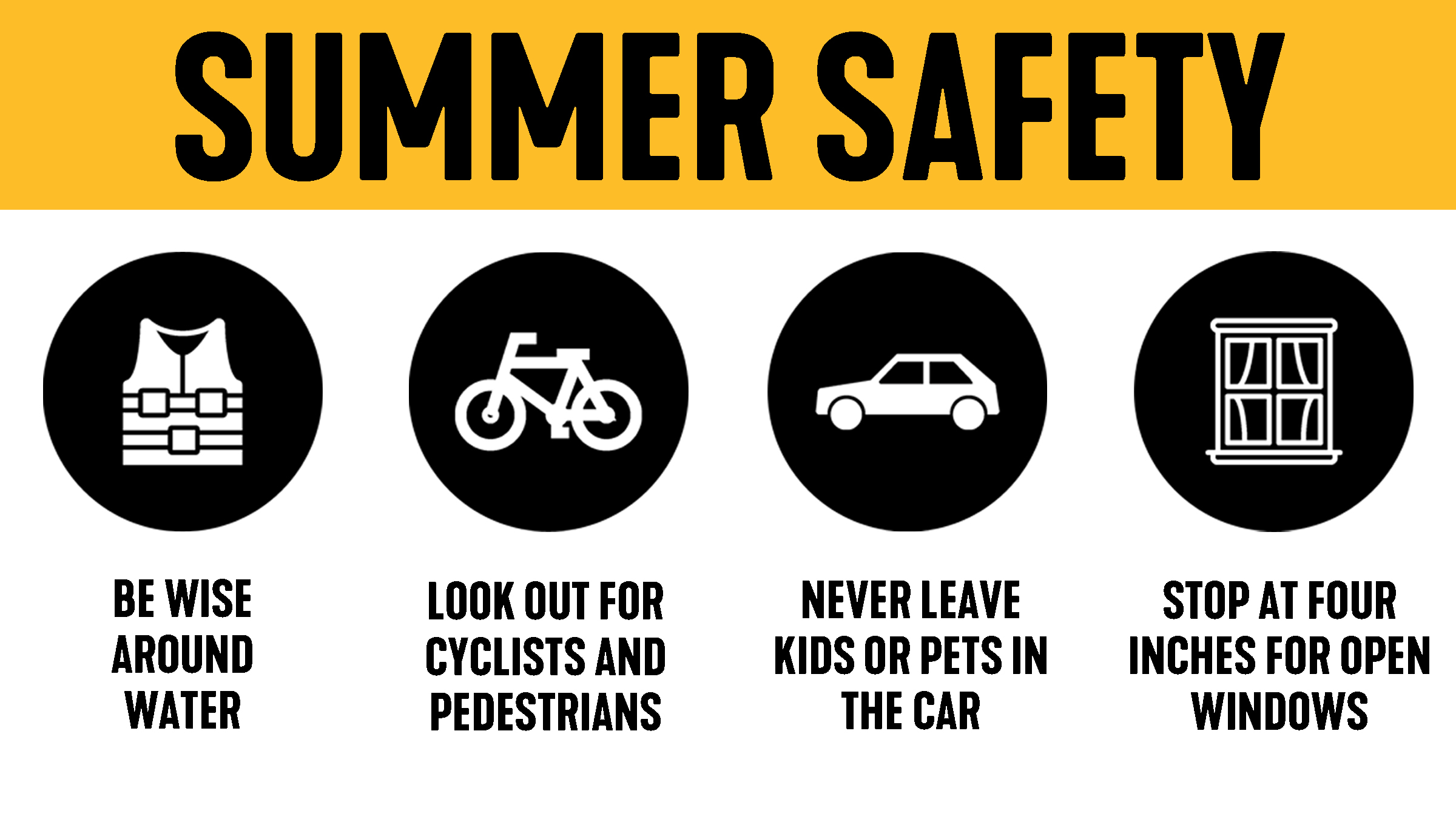 Summer Safety graphic