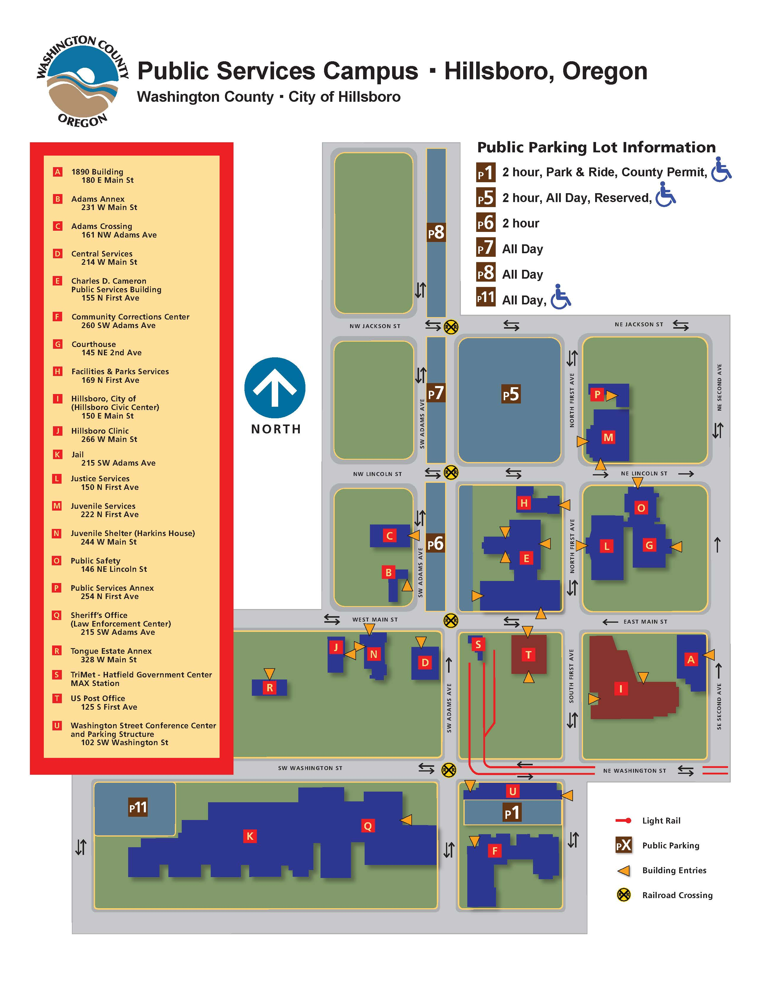 Public Services Campus Map