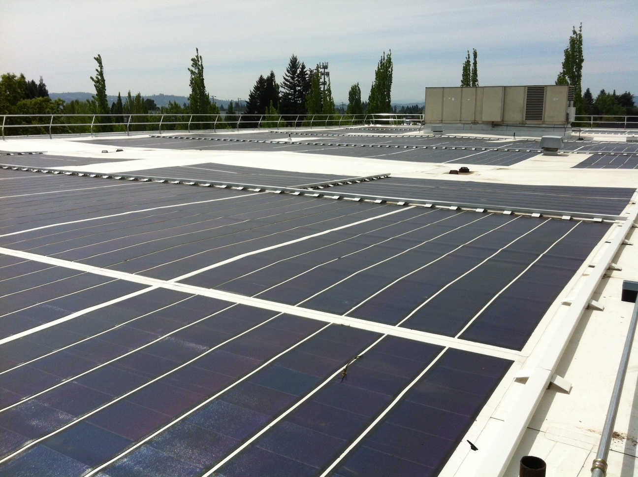 Solar array on PSB