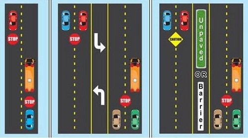 Traffic - where to stop for school busses