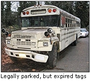 bus with expired tags