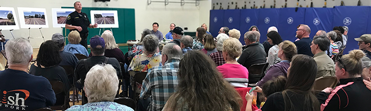 CPO 10 and 15 drew a big crowd to discuss possible ways to improve the safety of the Hwy 219 and Burkhalter Road intersection.