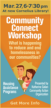 CPO 12F hosts Community Connect Workshop presented by Katherine Galian of Community Action Organization on March 27, 6pm.