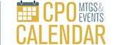 CPO Calendar of mtgs and events