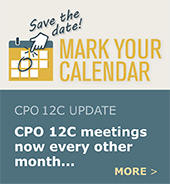 In 2019, CPO 12C will be meeting every other month.