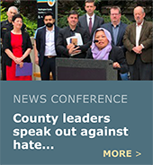 County leaders speak out against hate.